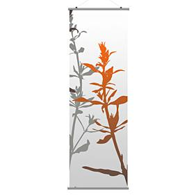Wildflower in Silver and Rust 3 Slat
