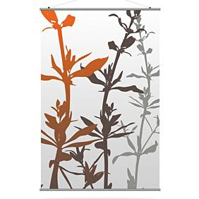 Wildflower in Silver and Rust Slat