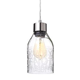 Why Not in Clear Reclaimed Bottle Pendant Light