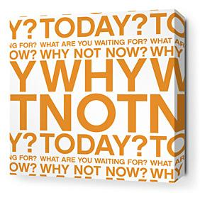 Why Not in Sunshine Stretched Wall Art