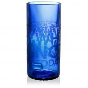 Why Not Blue Drinking Glass