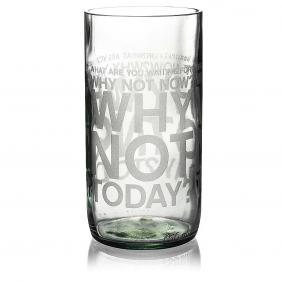 Why Not Clear Drinking Glass