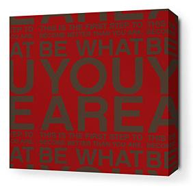 You Are in Scarlet and Chocolate Stretched Wall Art
