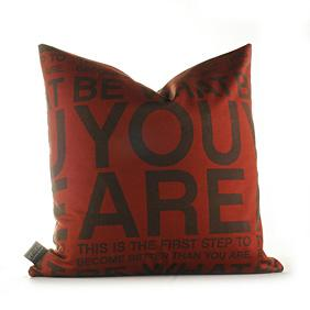 You Are in Scarlet and Chocolate Pillow