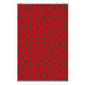You Are in Scarlet and Chocolate Slat