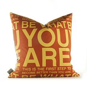 You Are in Sunflower and Rust Pillow