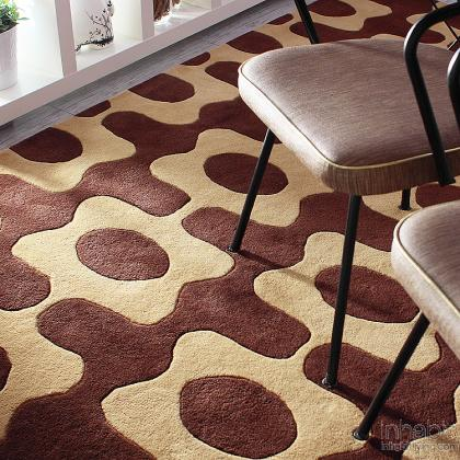 Laugh in Chocolate & Amber Hand-Tufted Wool Rug