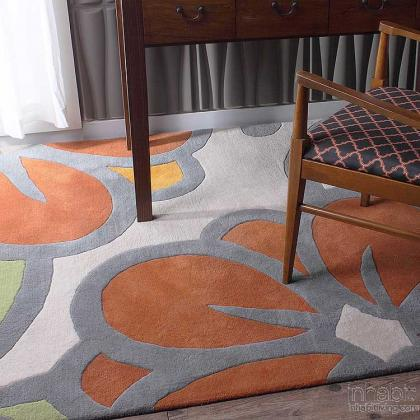 Laguna in Prairie & Melon Hand-Tufted Wool Rug