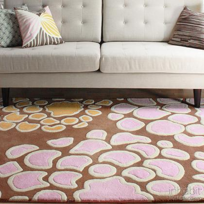 Mum in Blush & Sunshine Hand-Tufted Wool Rug