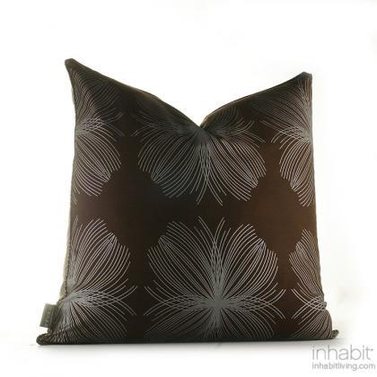 Aequorea in Chocolate and Silver  Studio Pillow