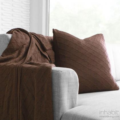 Current in Chocolate  Studio Pillow