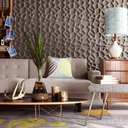 3D embossed wall panels