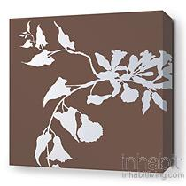 Morning Glory in Chocolate Stretched Wall Art