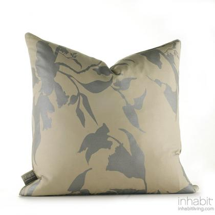 Morning Glory in Silver  Studio Pillow