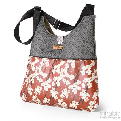 Nixon Flowering Pyrus in Rust Handbag