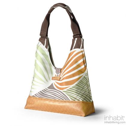 Reagan Leaf in Grass & Butterscotch Handbag