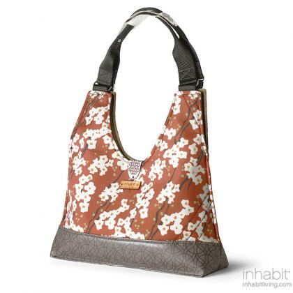 Reagan Flowering Pyrus in Rust Handbag