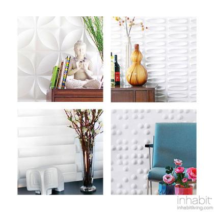 Wall Flat Samples, 3D embossed wall tiles
