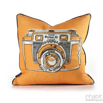 Shutter in Sunshine Pillow Modern Handprinted Graphic Pillow, Made in the USA