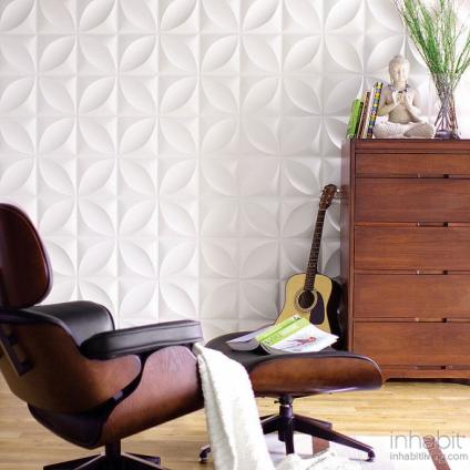 Chrysalis Wall Flats, 3D embossed wall tiles