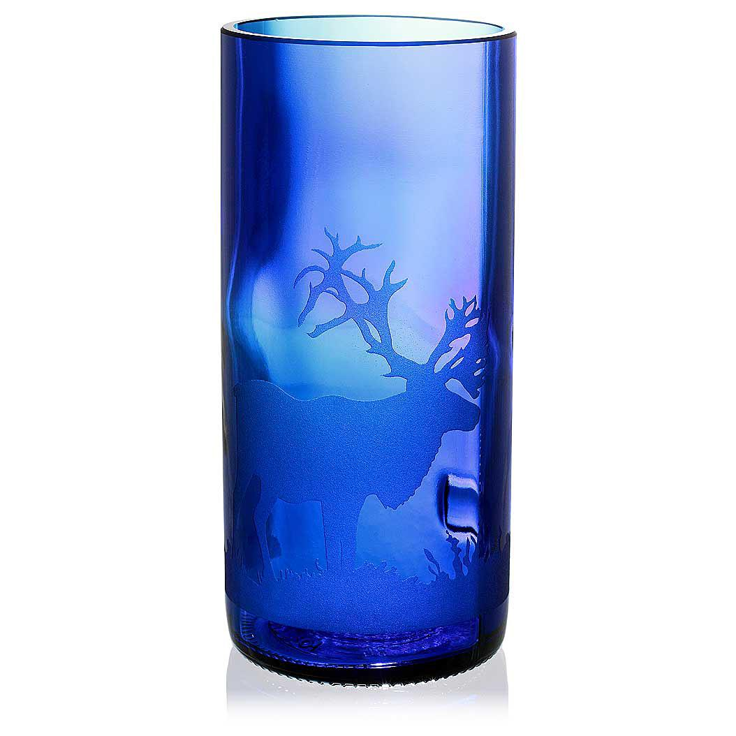 Caribou Blue Drinking Glass