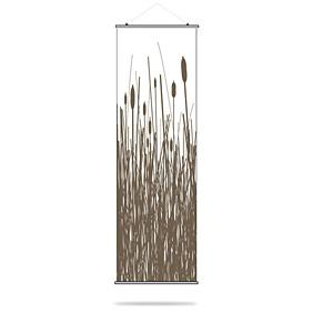 Cattails in Chocolate Slat