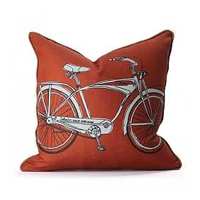 Cruise in Persimmon & Camel Pillow