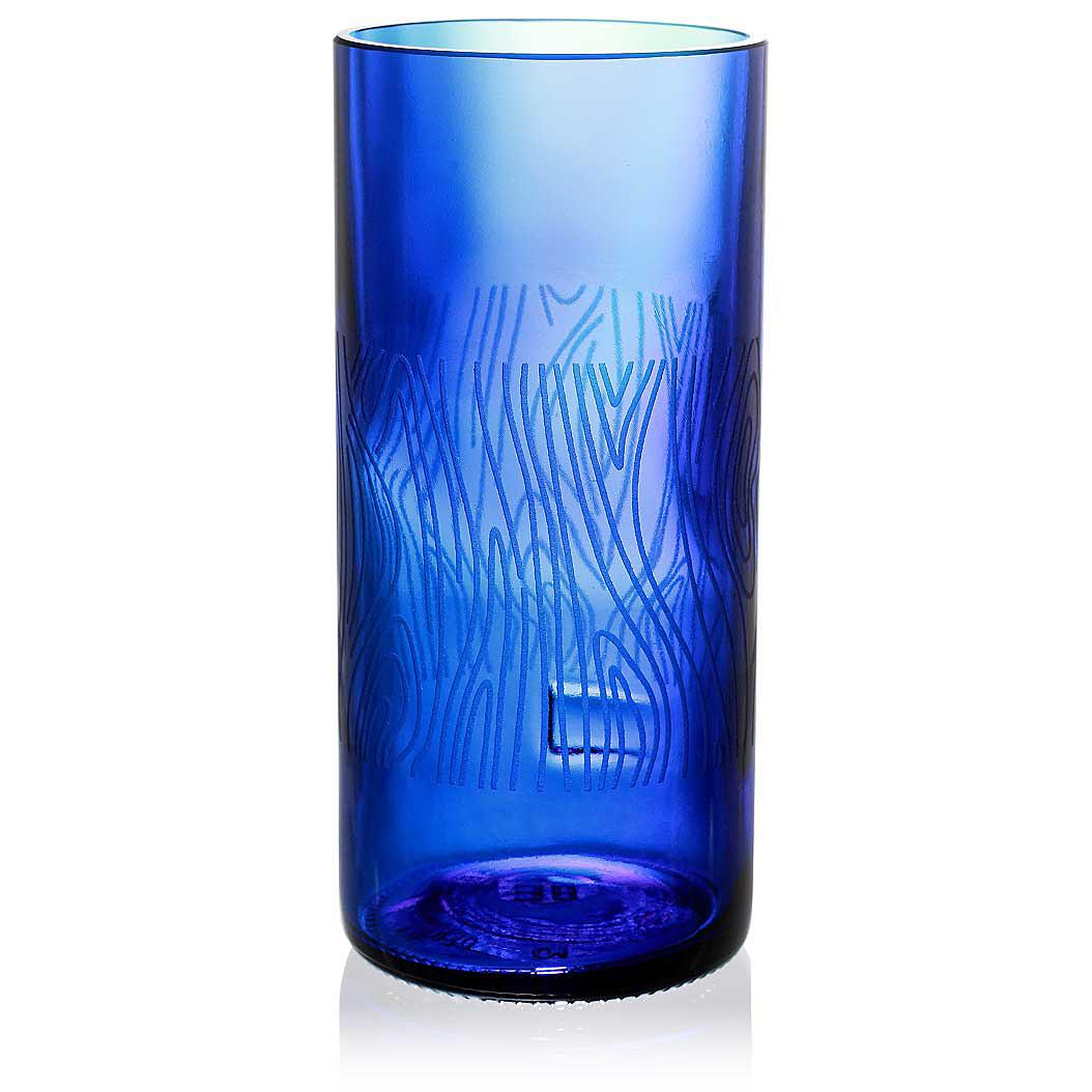 Madera Blue Drinking Glass
