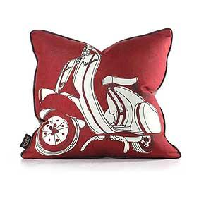 Moto in Scarlet Green Pillow