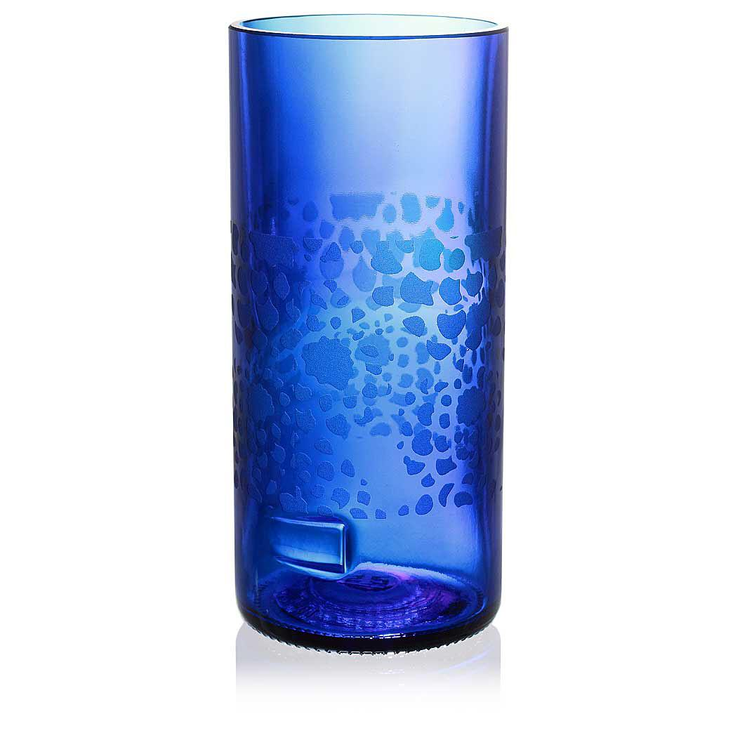 Mum Blue Drinking Glass