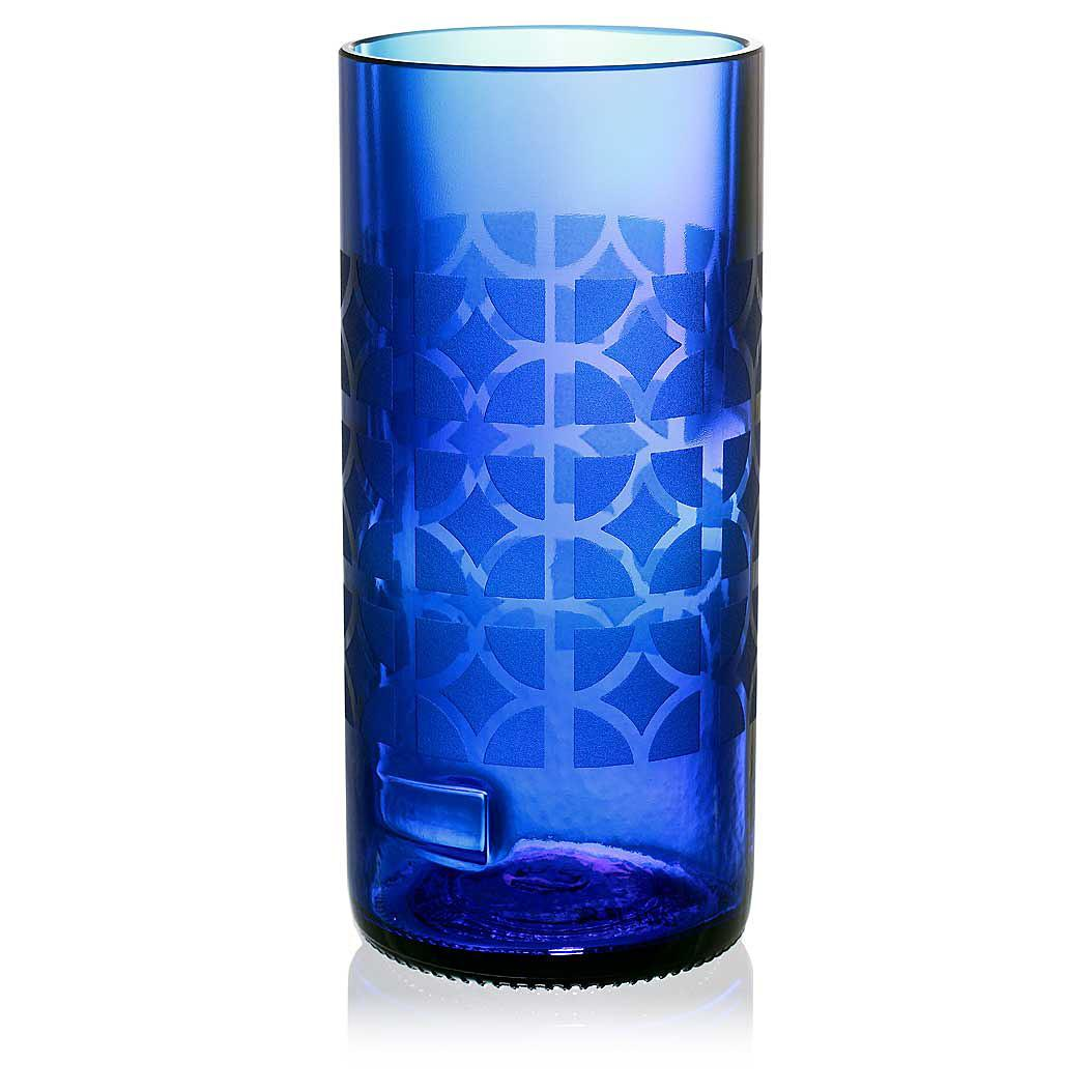 Nixon Blue Drinking Glass