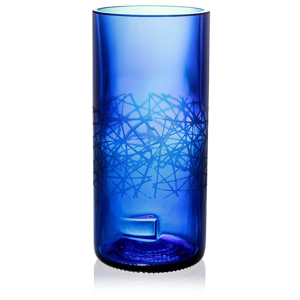 Urban Blue Drinking Glass