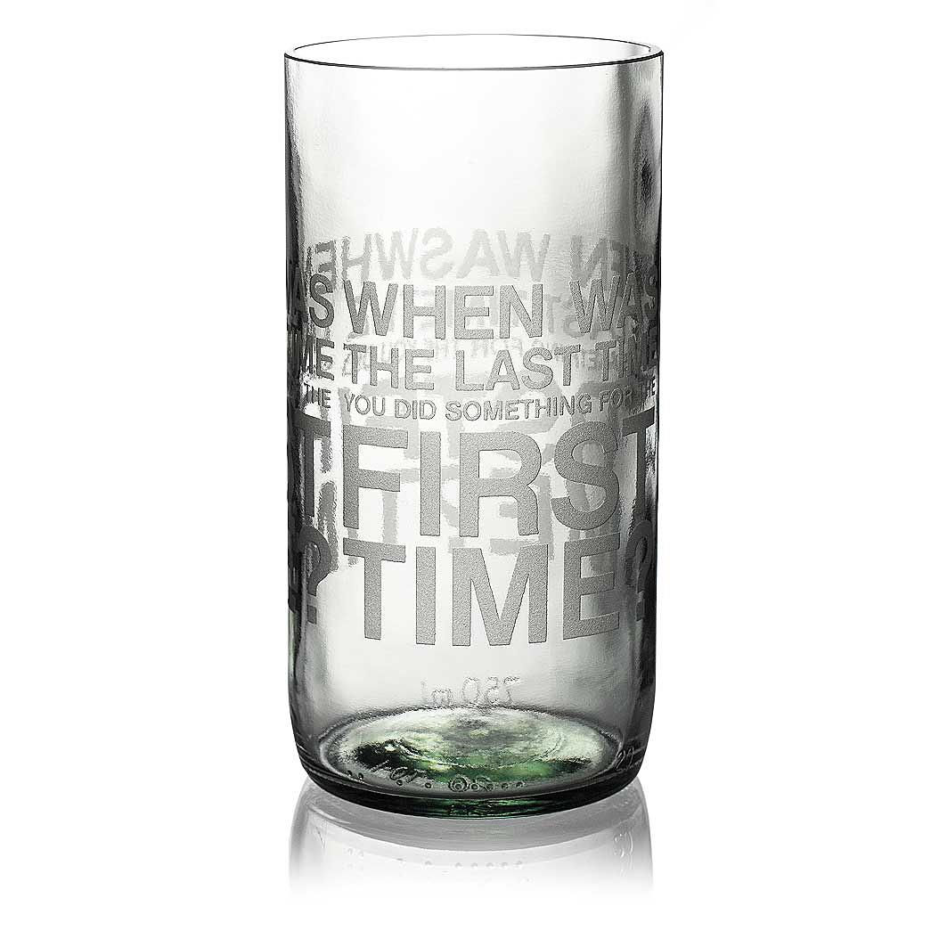 When Was Clear Drinking Glass