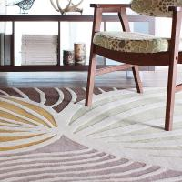Leaf in Natural & Apricot Hand-Tufted Wool Rug