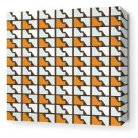 Faux Houndstooth in Sunshine Stretched Wall Art
