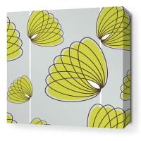 Lotus in Silver and Grass Stretched Wall Art