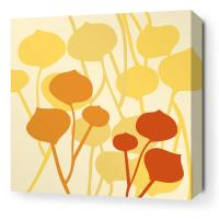 Seedling in Pale Yellow Stretched Wall Art
