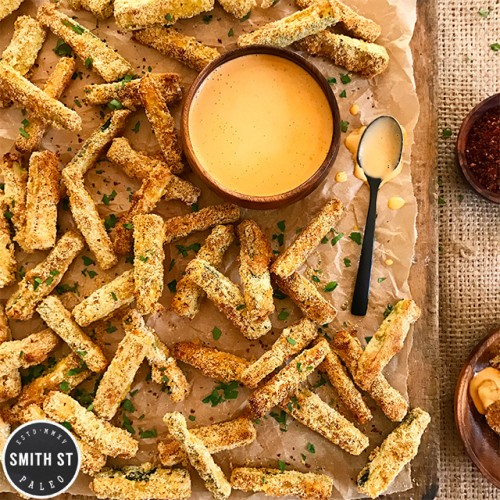 Zucchini Fries with Sriracha Mayo
