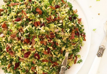 Shredded Kale & Brussels Sprout Salad