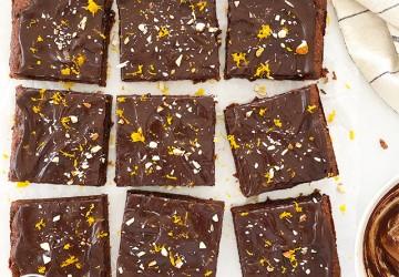 Prune Almond and Orange Brownies