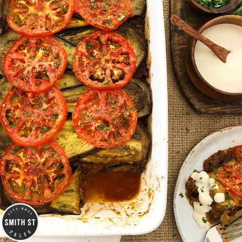 Paleo Middle Eastern Beef & Eggplant Casserole