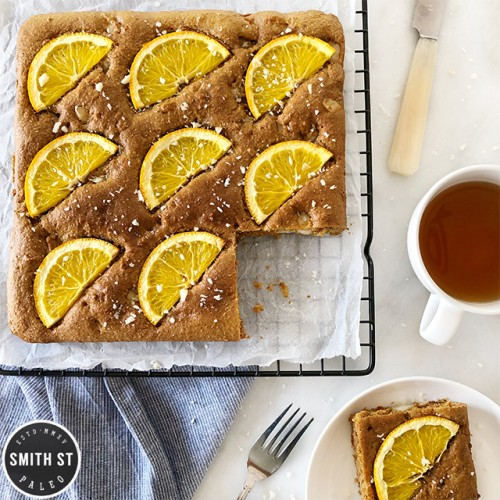 Paleo Orange & Macadamia Blondies