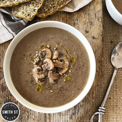 Paleo Mushroom & Chestnut Soup