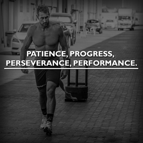 Patience, progress, perseverance, performance