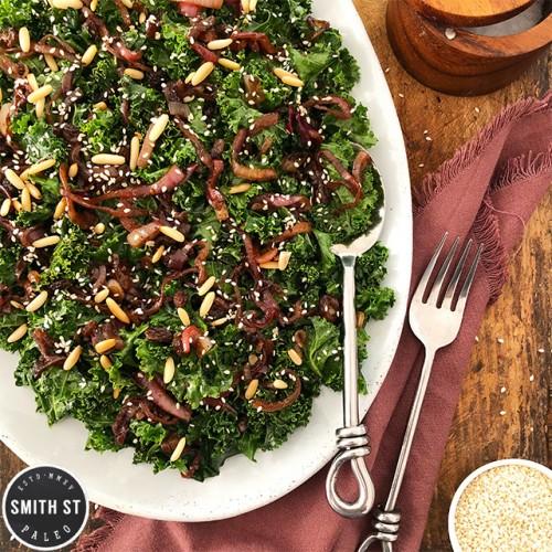 Paleo Kale Salad with Sweet Onions