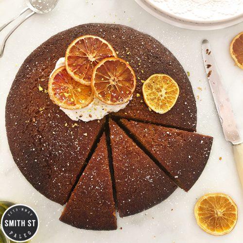 Paleo Orange Cardamom Olive Oil Cake