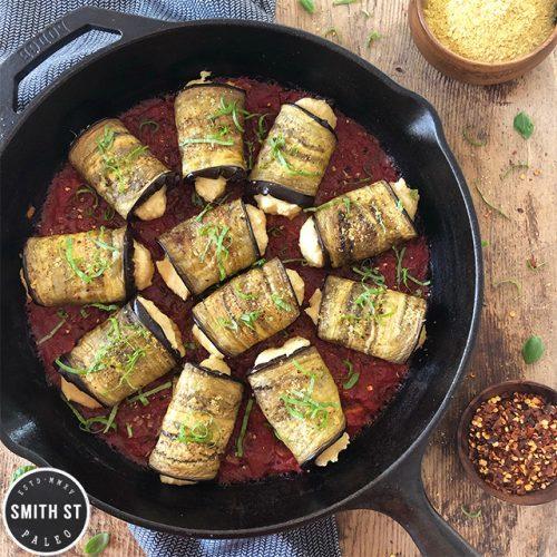 Paleo Eggplant Involtini