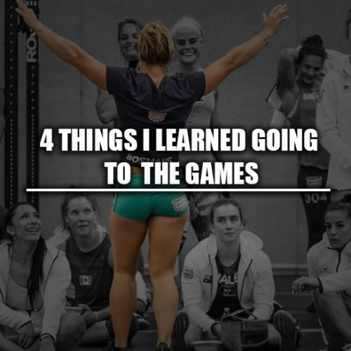 4 things I learned going to the games