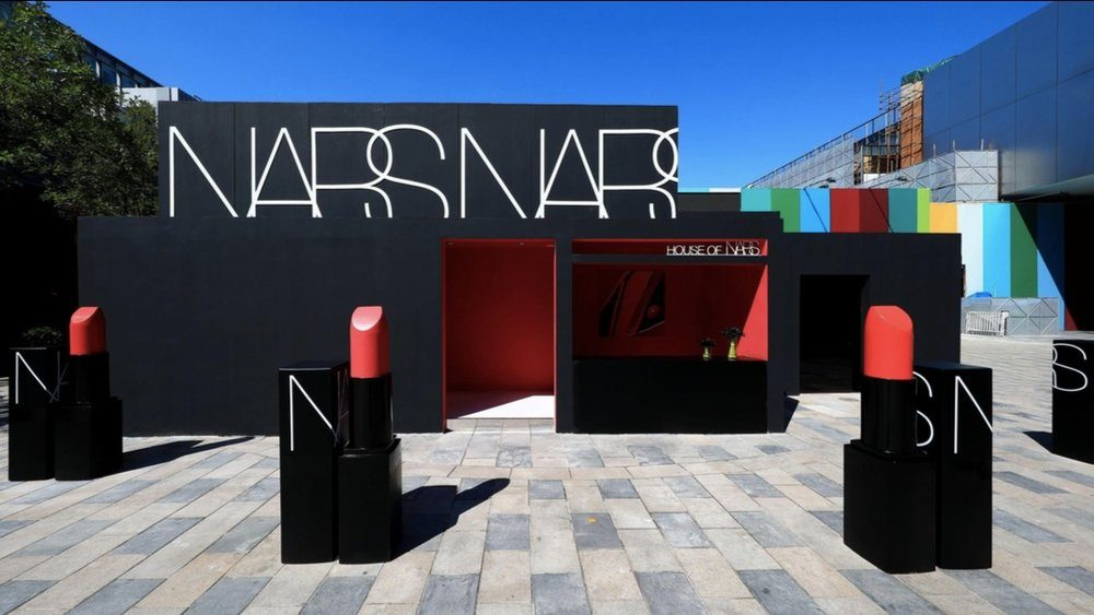 """""""House of Nars"""" pop-up in Beijing Sanlitun supporting the O2O strategy for Asian markets."""