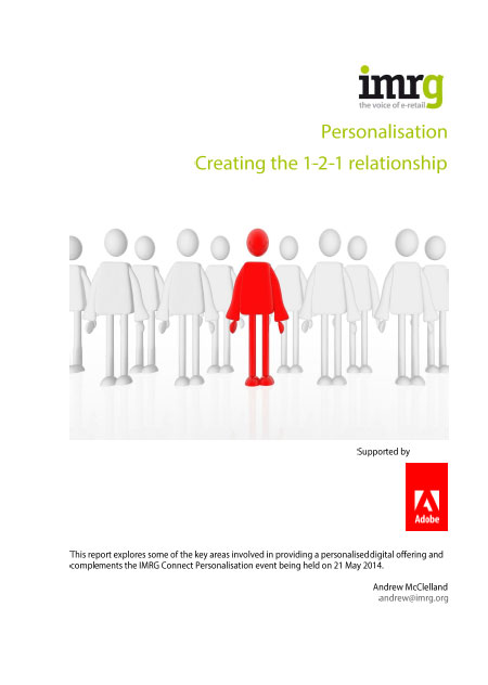 Front page of Adobe Personlisation Report